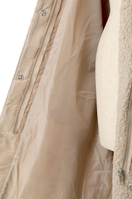 ShearlingFleeceStrappedNeckCoatボア&パイピング・ハイネックコート大人カジュアルに最適な海外ファッションのothers(その他インポートアイテム)のアウターやコート。首元まで暖かい、ミリタリー調のストラップが可愛いハイネックのボアロングコート。要所要所に施した合皮パイピングデザインがポイントになり、全体をスタイリッシュな雰囲気に仕上げてくれます。/main-24