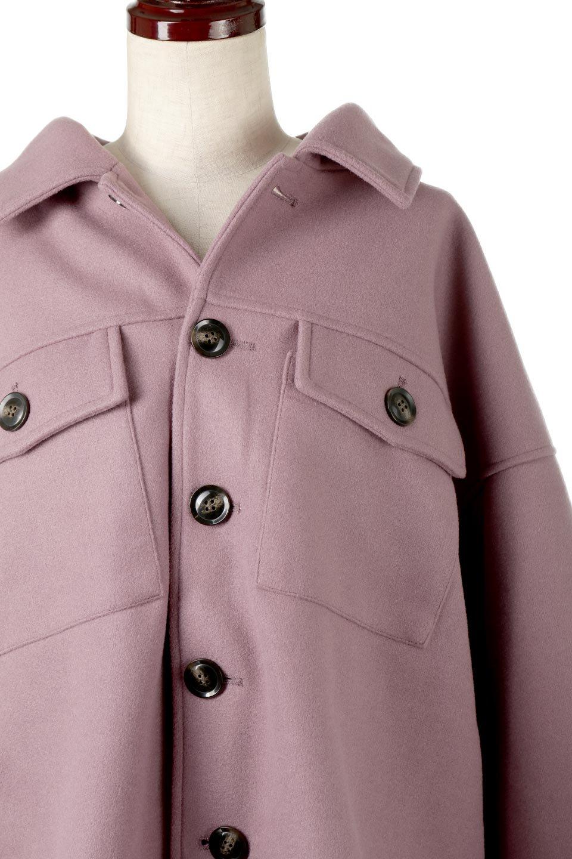 EcoWoolOversizedShirtJacketフェイクウール・オーバーサイズシャツジャケット大人カジュアルに最適な海外ファッションのothers(その他インポートアイテム)のアウターやコート。3シーズン着回せるあると便利なオーバーサイズシャツジャケット。ウォーム感のあるしっかりとした素材感で、カラーバリエーションも豊富。/main-15