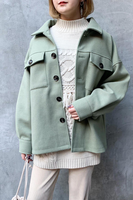 EcoWoolOversizedShirtJacketフェイクウール・オーバーサイズシャツジャケット大人カジュアルに最適な海外ファッションのothers(その他インポートアイテム)のアウターやコート。3シーズン着回せるあると便利なオーバーサイズシャツジャケット。ウォーム感のあるしっかりとした素材感で、カラーバリエーションも豊富。/main-25