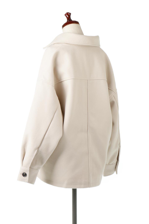 EcoWoolOversizedShirtJacketフェイクウール・オーバーサイズシャツジャケット大人カジュアルに最適な海外ファッションのothers(その他インポートアイテム)のアウターやコート。3シーズン着回せるあると便利なオーバーサイズシャツジャケット。ウォーム感のあるしっかりとした素材感で、カラーバリエーションも豊富。/main-3
