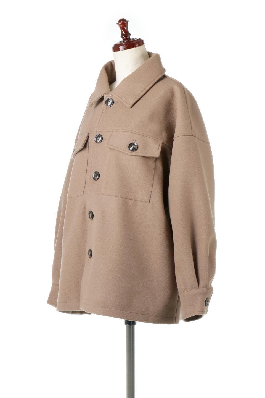 EcoWoolOversizedShirtJacketフェイクウール・オーバーサイズシャツジャケット大人カジュアルに最適な海外ファッションのothers(その他インポートアイテム)のアウターやコート。3シーズン着回せるあると便利なオーバーサイズシャツジャケット。ウォーム感のあるしっかりとした素材感で、カラーバリエーションも豊富。/main-6
