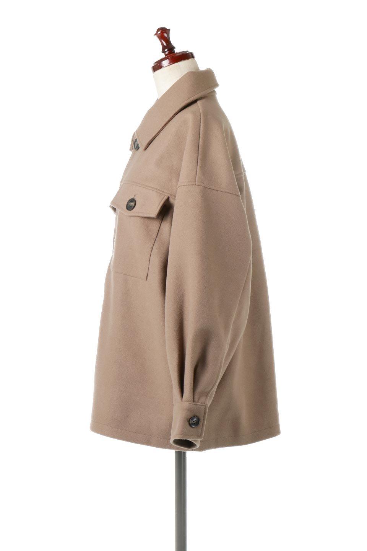 EcoWoolOversizedShirtJacketフェイクウール・オーバーサイズシャツジャケット大人カジュアルに最適な海外ファッションのothers(その他インポートアイテム)のアウターやコート。3シーズン着回せるあると便利なオーバーサイズシャツジャケット。ウォーム感のあるしっかりとした素材感で、カラーバリエーションも豊富。/main-7
