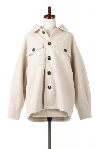 海外ファッションや大人カジュアルに最適なインポートセレクトアイテムのEco Wool Oversized Shirt Jacket フェイクウール・オーバーサイズシャツジャケット