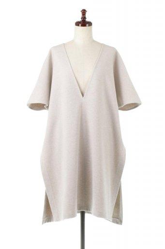 海外ファッションや大人カジュアルに最適なインポートセレクトアイテムのRaised Back Twill Kaftan Top 裏起毛ツイル・カフタンプルオーバー