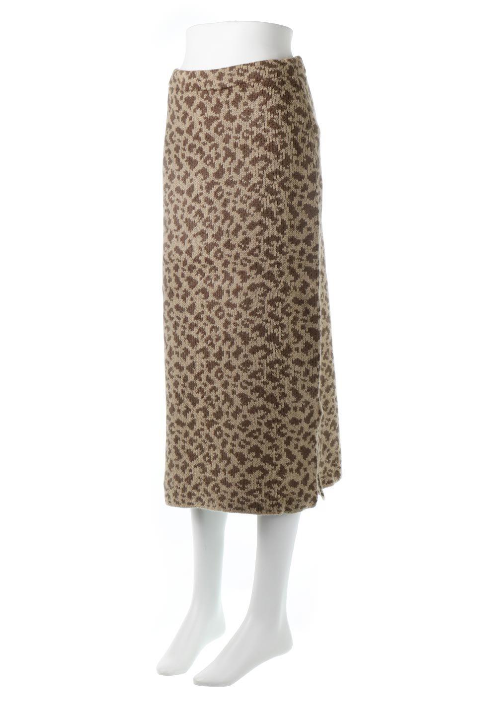 LeopardPatternedKnitSkirtレオパード柄・ニットスカート大人カジュアルに最適な海外ファッションのothers(その他インポートアイテム)のボトムやスカート。根強い人気のレオパード柄をあしらったニットスカート。茶系のレオパード柄はコーディネートも楽に決まる人気のカラーリング。/main-1