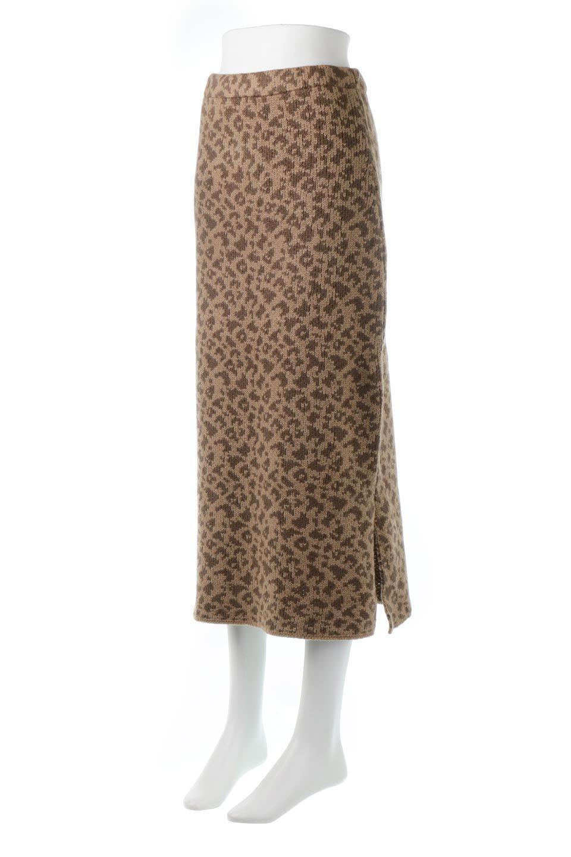 LeopardPatternedKnitSkirtレオパード柄・ニットスカート大人カジュアルに最適な海外ファッションのothers(その他インポートアイテム)のボトムやスカート。根強い人気のレオパード柄をあしらったニットスカート。茶系のレオパード柄はコーディネートも楽に決まる人気のカラーリング。/main-11