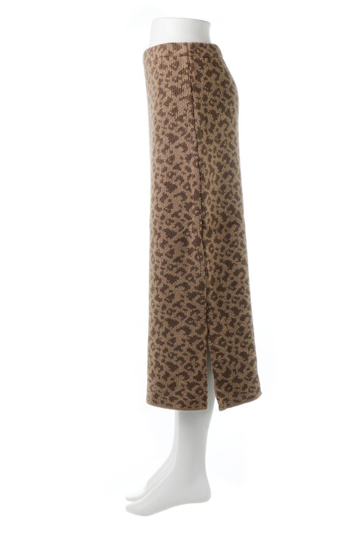 LeopardPatternedKnitSkirtレオパード柄・ニットスカート大人カジュアルに最適な海外ファッションのothers(その他インポートアイテム)のボトムやスカート。根強い人気のレオパード柄をあしらったニットスカート。茶系のレオパード柄はコーディネートも楽に決まる人気のカラーリング。/main-12