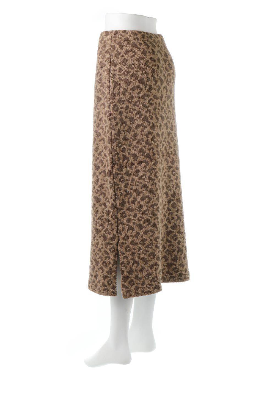 LeopardPatternedKnitSkirtレオパード柄・ニットスカート大人カジュアルに最適な海外ファッションのothers(その他インポートアイテム)のボトムやスカート。根強い人気のレオパード柄をあしらったニットスカート。茶系のレオパード柄はコーディネートも楽に決まる人気のカラーリング。/main-13
