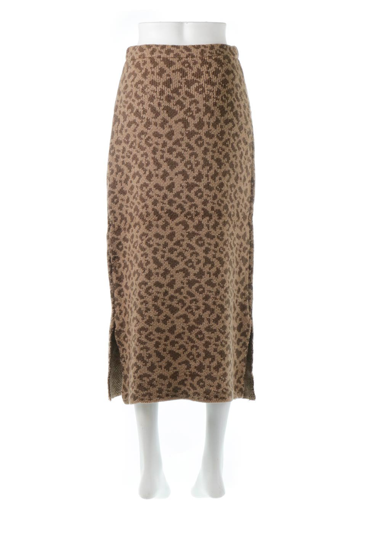 LeopardPatternedKnitSkirtレオパード柄・ニットスカート大人カジュアルに最適な海外ファッションのothers(その他インポートアイテム)のボトムやスカート。根強い人気のレオパード柄をあしらったニットスカート。茶系のレオパード柄はコーディネートも楽に決まる人気のカラーリング。/main-14
