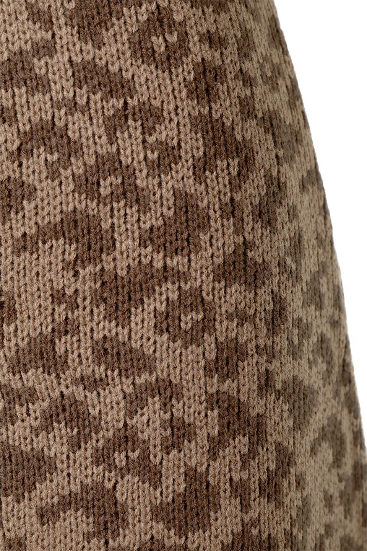 LeopardPatternedKnitSkirtレオパード柄・ニットスカート大人カジュアルに最適な海外ファッションのothers(その他インポートアイテム)のボトムやスカート。根強い人気のレオパード柄をあしらったニットスカート。茶系のレオパード柄はコーディネートも楽に決まる人気のカラーリング。/main-16
