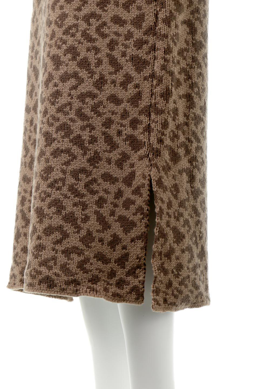 LeopardPatternedKnitSkirtレオパード柄・ニットスカート大人カジュアルに最適な海外ファッションのothers(その他インポートアイテム)のボトムやスカート。根強い人気のレオパード柄をあしらったニットスカート。茶系のレオパード柄はコーディネートも楽に決まる人気のカラーリング。/main-17
