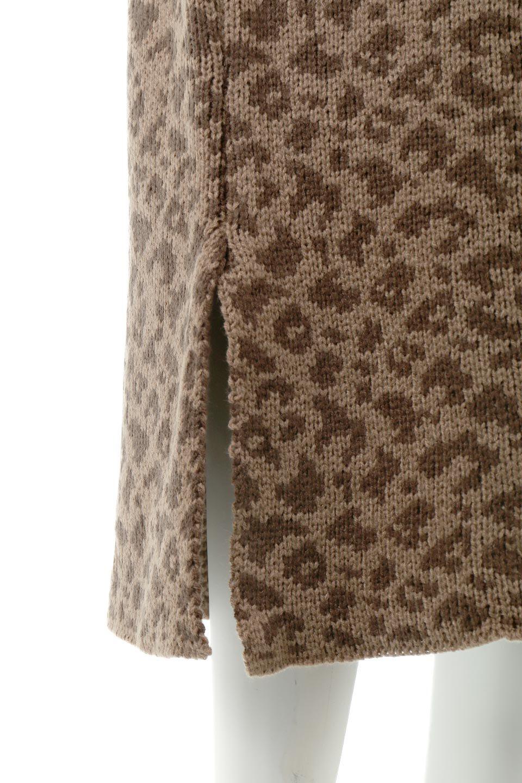 LeopardPatternedKnitSkirtレオパード柄・ニットスカート大人カジュアルに最適な海外ファッションのothers(その他インポートアイテム)のボトムやスカート。根強い人気のレオパード柄をあしらったニットスカート。茶系のレオパード柄はコーディネートも楽に決まる人気のカラーリング。/main-18