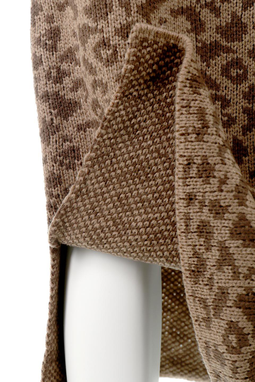 LeopardPatternedKnitSkirtレオパード柄・ニットスカート大人カジュアルに最適な海外ファッションのothers(その他インポートアイテム)のボトムやスカート。根強い人気のレオパード柄をあしらったニットスカート。茶系のレオパード柄はコーディネートも楽に決まる人気のカラーリング。/main-19