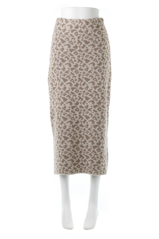 LeopardPatternedKnitSkirtレオパード柄・ニットスカート大人カジュアルに最適な海外ファッションのothers(その他インポートアイテム)のボトムやスカート。根強い人気のレオパード柄をあしらったニットスカート。茶系のレオパード柄はコーディネートも楽に決まる人気のカラーリング。/main-5