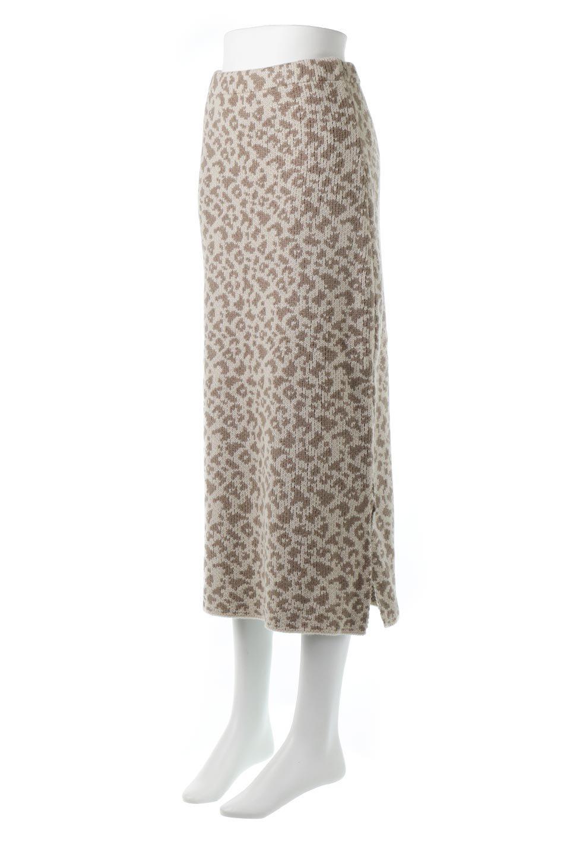 LeopardPatternedKnitSkirtレオパード柄・ニットスカート大人カジュアルに最適な海外ファッションのothers(その他インポートアイテム)のボトムやスカート。根強い人気のレオパード柄をあしらったニットスカート。茶系のレオパード柄はコーディネートも楽に決まる人気のカラーリング。/main-6