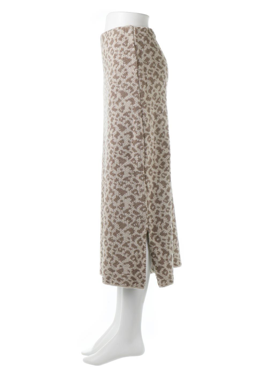 LeopardPatternedKnitSkirtレオパード柄・ニットスカート大人カジュアルに最適な海外ファッションのothers(その他インポートアイテム)のボトムやスカート。根強い人気のレオパード柄をあしらったニットスカート。茶系のレオパード柄はコーディネートも楽に決まる人気のカラーリング。/main-7