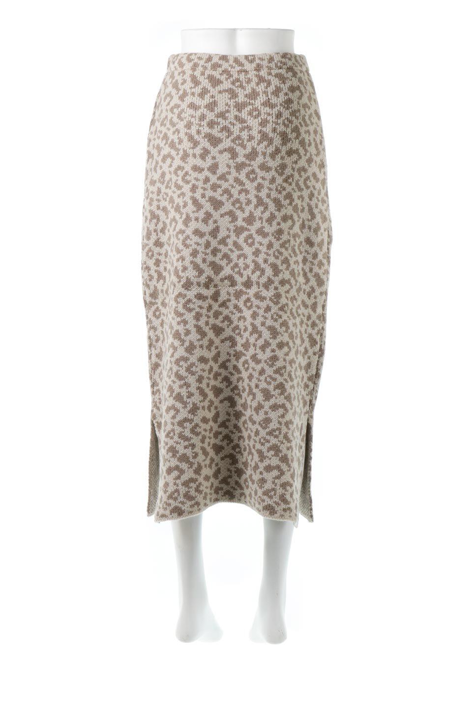 LeopardPatternedKnitSkirtレオパード柄・ニットスカート大人カジュアルに最適な海外ファッションのothers(その他インポートアイテム)のボトムやスカート。根強い人気のレオパード柄をあしらったニットスカート。茶系のレオパード柄はコーディネートも楽に決まる人気のカラーリング。/main-9