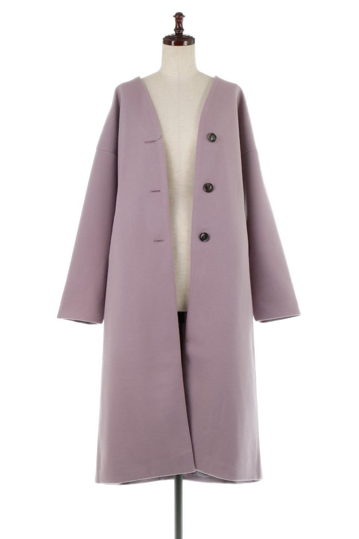EcoWoolCollarlessLongCoatフェイクウール・ノーカラーコート大人カジュアルに最適な海外ファッションのothers(その他インポートアイテム)のアウターやコート。暖かみのあるフェイクウールを使用したノーカラーコート。カジュアル過ぎないノーカラーデザインが上品に魅せ、スッキリとしたシルエットで落ち着いた大人コーデには欠かせません。/main-10