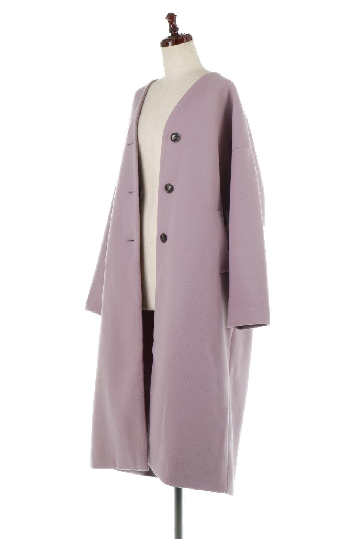 EcoWoolCollarlessLongCoatフェイクウール・ノーカラーコート大人カジュアルに最適な海外ファッションのothers(その他インポートアイテム)のアウターやコート。暖かみのあるフェイクウールを使用したノーカラーコート。カジュアル過ぎないノーカラーデザインが上品に魅せ、スッキリとしたシルエットで落ち着いた大人コーデには欠かせません。/main-11