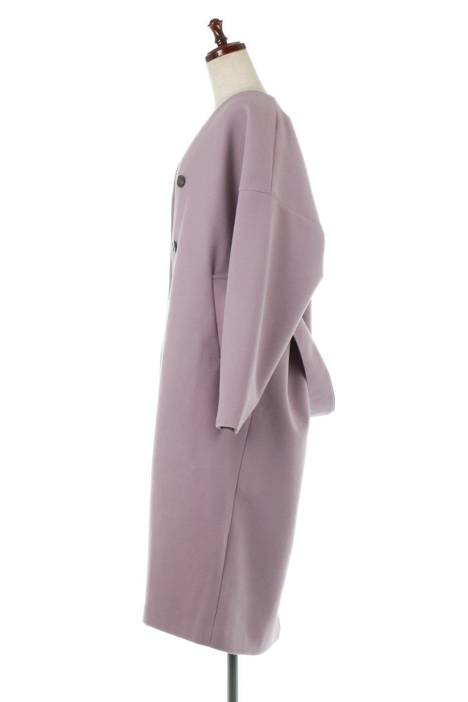 EcoWoolCollarlessLongCoatフェイクウール・ノーカラーコート大人カジュアルに最適な海外ファッションのothers(その他インポートアイテム)のアウターやコート。暖かみのあるフェイクウールを使用したノーカラーコート。カジュアル過ぎないノーカラーデザインが上品に魅せ、スッキリとしたシルエットで落ち着いた大人コーデには欠かせません。/main-12
