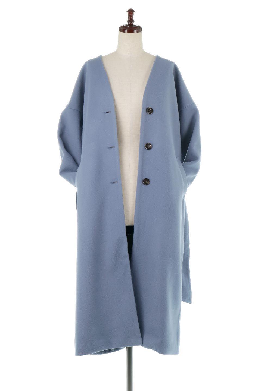 EcoWoolCollarlessLongCoatフェイクウール・ノーカラーコート大人カジュアルに最適な海外ファッションのothers(その他インポートアイテム)のアウターやコート。暖かみのあるフェイクウールを使用したノーカラーコート。カジュアル過ぎないノーカラーデザインが上品に魅せ、スッキリとしたシルエットで落ち着いた大人コーデには欠かせません。/main-15