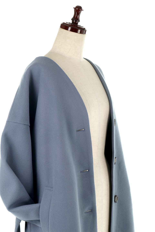 EcoWoolCollarlessLongCoatフェイクウール・ノーカラーコート大人カジュアルに最適な海外ファッションのothers(その他インポートアイテム)のアウターやコート。暖かみのあるフェイクウールを使用したノーカラーコート。カジュアル過ぎないノーカラーデザインが上品に魅せ、スッキリとしたシルエットで落ち着いた大人コーデには欠かせません。/main-20