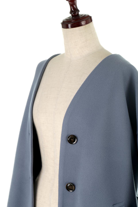 EcoWoolCollarlessLongCoatフェイクウール・ノーカラーコート大人カジュアルに最適な海外ファッションのothers(その他インポートアイテム)のアウターやコート。暖かみのあるフェイクウールを使用したノーカラーコート。カジュアル過ぎないノーカラーデザインが上品に魅せ、スッキリとしたシルエットで落ち着いた大人コーデには欠かせません。/main-21