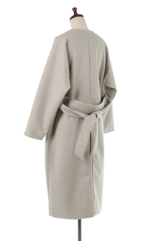 EcoWoolCollarlessLongCoatフェイクウール・ノーカラーコート大人カジュアルに最適な海外ファッションのothers(その他インポートアイテム)のアウターやコート。暖かみのあるフェイクウールを使用したノーカラーコート。カジュアル過ぎないノーカラーデザインが上品に魅せ、スッキリとしたシルエットで落ち着いた大人コーデには欠かせません。/main-3