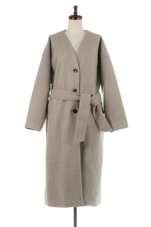 EcoWoolCollarlessLongCoatフェイクウール・ノーカラーコート大人カジュアルに最適な海外ファッションのothers(その他インポートアイテム)のアウターやコート。暖かみのあるフェイクウールを使用したノーカラーコート。カジュアル過ぎないノーカラーデザインが上品に魅せ、スッキリとしたシルエットで落ち着いた大人コーデには欠かせません。/main-5