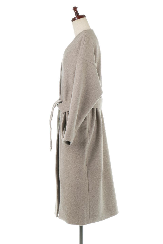 EcoWoolCollarlessLongCoatフェイクウール・ノーカラーコート大人カジュアルに最適な海外ファッションのothers(その他インポートアイテム)のアウターやコート。暖かみのあるフェイクウールを使用したノーカラーコート。カジュアル過ぎないノーカラーデザインが上品に魅せ、スッキリとしたシルエットで落ち着いた大人コーデには欠かせません。/main-7