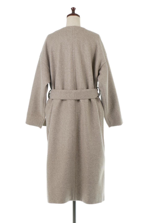 EcoWoolCollarlessLongCoatフェイクウール・ノーカラーコート大人カジュアルに最適な海外ファッションのothers(その他インポートアイテム)のアウターやコート。暖かみのあるフェイクウールを使用したノーカラーコート。カジュアル過ぎないノーカラーデザインが上品に魅せ、スッキリとしたシルエットで落ち着いた大人コーデには欠かせません。/main-9