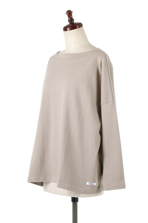 CottonSweatBoxSilhouetteTopボックスシルエット・長袖スウェット大人カジュアルに最適な海外ファッションのothers(その他インポートアイテム)のトップスやカットソー。肉厚なコットン100%の生地を使ったボックスシルエットのカットソー。ワイドなシルエットながら短めの丈ですっきりとした印象になります。/main-1