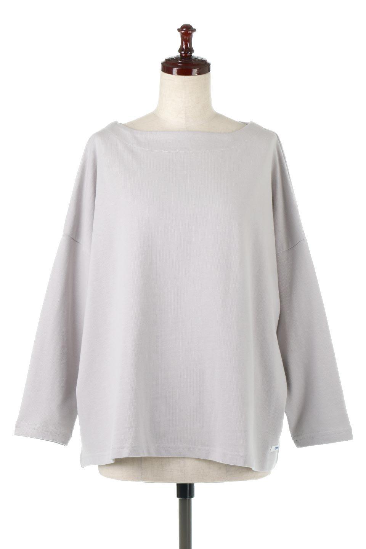CottonSweatBoxSilhouetteTopボックスシルエット・長袖スウェット大人カジュアルに最適な海外ファッションのothers(その他インポートアイテム)のトップスやカットソー。肉厚なコットン100%の生地を使ったボックスシルエットのカットソー。ワイドなシルエットながら短めの丈ですっきりとした印象になります。/main-10