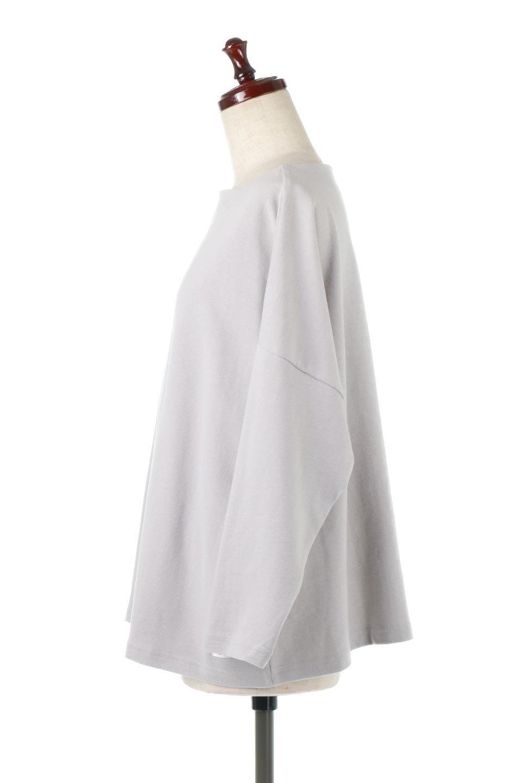 CottonSweatBoxSilhouetteTopボックスシルエット・長袖スウェット大人カジュアルに最適な海外ファッションのothers(その他インポートアイテム)のトップスやカットソー。肉厚なコットン100%の生地を使ったボックスシルエットのカットソー。ワイドなシルエットながら短めの丈ですっきりとした印象になります。/main-12
