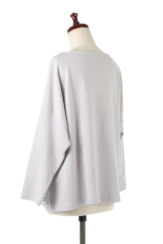 CottonSweatBoxSilhouetteTopボックスシルエット・長袖スウェット大人カジュアルに最適な海外ファッションのothers(その他インポートアイテム)のトップスやカットソー。肉厚なコットン100%の生地を使ったボックスシルエットのカットソー。ワイドなシルエットながら短めの丈ですっきりとした印象になります。/main-13
