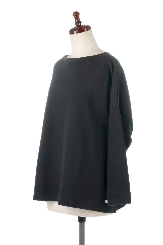 CottonSweatBoxSilhouetteTopボックスシルエット・長袖スウェット大人カジュアルに最適な海外ファッションのothers(その他インポートアイテム)のトップスやカットソー。肉厚なコットン100%の生地を使ったボックスシルエットのカットソー。ワイドなシルエットながら短めの丈ですっきりとした印象になります。/main-16