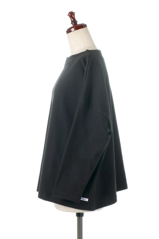 CottonSweatBoxSilhouetteTopボックスシルエット・長袖スウェット大人カジュアルに最適な海外ファッションのothers(その他インポートアイテム)のトップスやカットソー。肉厚なコットン100%の生地を使ったボックスシルエットのカットソー。ワイドなシルエットながら短めの丈ですっきりとした印象になります。/main-17