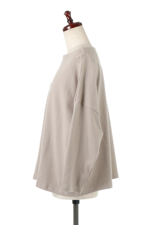 CottonSweatBoxSilhouetteTopボックスシルエット・長袖スウェット大人カジュアルに最適な海外ファッションのothers(その他インポートアイテム)のトップスやカットソー。肉厚なコットン100%の生地を使ったボックスシルエットのカットソー。ワイドなシルエットながら短めの丈ですっきりとした印象になります。/main-2