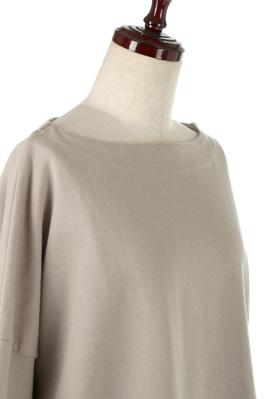 CottonSweatBoxSilhouetteTopボックスシルエット・長袖スウェット大人カジュアルに最適な海外ファッションのothers(その他インポートアイテム)のトップスやカットソー。肉厚なコットン100%の生地を使ったボックスシルエットのカットソー。ワイドなシルエットながら短めの丈ですっきりとした印象になります。/main-20