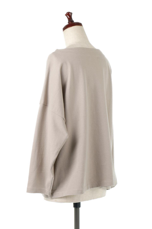 CottonSweatBoxSilhouetteTopボックスシルエット・長袖スウェット大人カジュアルに最適な海外ファッションのothers(その他インポートアイテム)のトップスやカットソー。肉厚なコットン100%の生地を使ったボックスシルエットのカットソー。ワイドなシルエットながら短めの丈ですっきりとした印象になります。/main-3