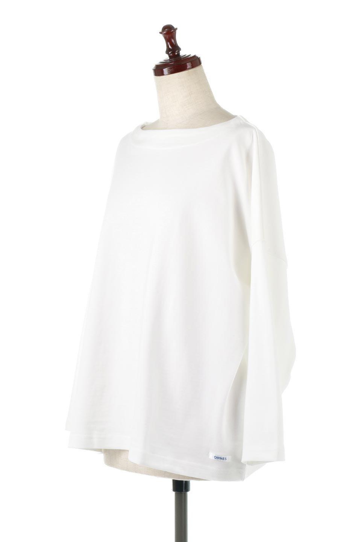 CottonSweatBoxSilhouetteTopボックスシルエット・長袖スウェット大人カジュアルに最適な海外ファッションのothers(その他インポートアイテム)のトップスやカットソー。肉厚なコットン100%の生地を使ったボックスシルエットのカットソー。ワイドなシルエットながら短めの丈ですっきりとした印象になります。/main-6