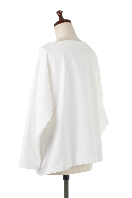 CottonSweatBoxSilhouetteTopボックスシルエット・長袖スウェット大人カジュアルに最適な海外ファッションのothers(その他インポートアイテム)のトップスやカットソー。肉厚なコットン100%の生地を使ったボックスシルエットのカットソー。ワイドなシルエットながら短めの丈ですっきりとした印象になります。/main-8