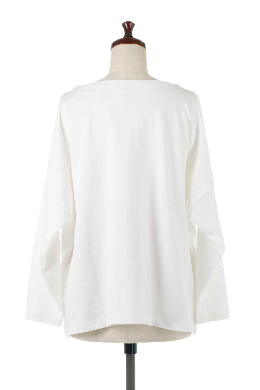CottonSweatBoxSilhouetteTopボックスシルエット・長袖スウェット大人カジュアルに最適な海外ファッションのothers(その他インポートアイテム)のトップスやカットソー。肉厚なコットン100%の生地を使ったボックスシルエットのカットソー。ワイドなシルエットながら短めの丈ですっきりとした印象になります。/main-9