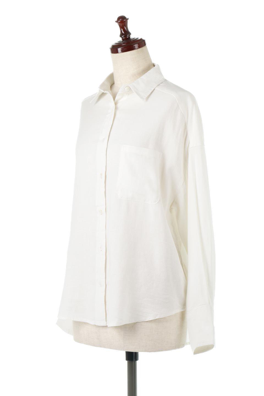 LooseFitLongSleeveLinenShirtsコットンリネン・ベーシックシャツ大人カジュアルに最適な海外ファッションのothers(その他インポートアイテム)のトップスやシャツ・ブラウス。コットン、リネン、レーヨンを使用し、ナチュラル素材にしなやかさをプラスするレーヨンを混ぜたルーズフィットスタイルのシャツ。くたっと柔らかでベーシックなスタイルの着回しやすいアイテムです。/main-1