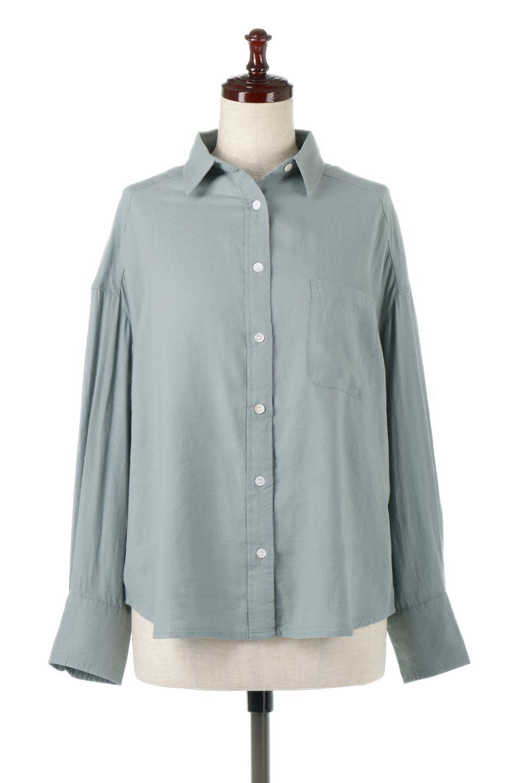 LooseFitLongSleeveLinenShirtsコットンリネン・ベーシックシャツ大人カジュアルに最適な海外ファッションのothers(その他インポートアイテム)のトップスやシャツ・ブラウス。コットン、リネン、レーヨンを使用し、ナチュラル素材にしなやかさをプラスするレーヨンを混ぜたルーズフィットスタイルのシャツ。くたっと柔らかでベーシックなスタイルの着回しやすいアイテムです。/main-10