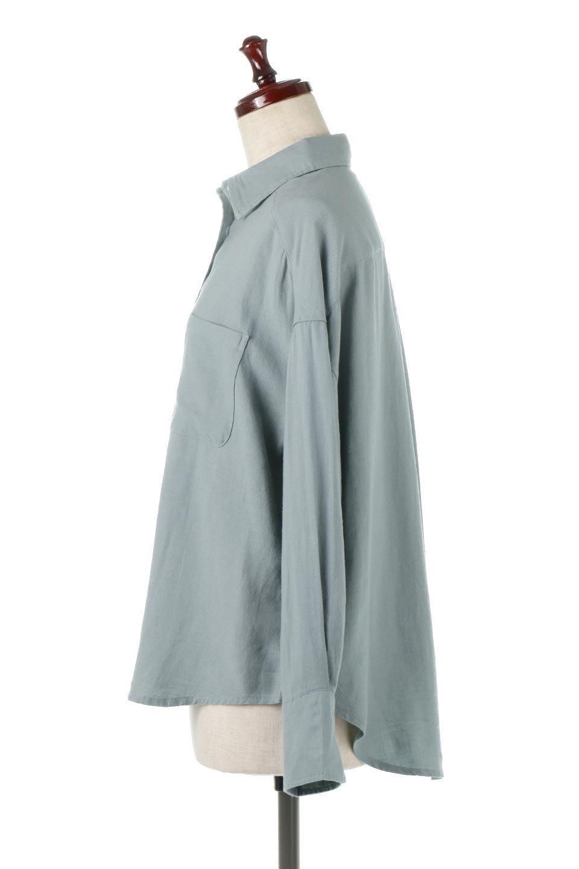 LooseFitLongSleeveLinenShirtsコットンリネン・ベーシックシャツ大人カジュアルに最適な海外ファッションのothers(その他インポートアイテム)のトップスやシャツ・ブラウス。コットン、リネン、レーヨンを使用し、ナチュラル素材にしなやかさをプラスするレーヨンを混ぜたルーズフィットスタイルのシャツ。くたっと柔らかでベーシックなスタイルの着回しやすいアイテムです。/main-12