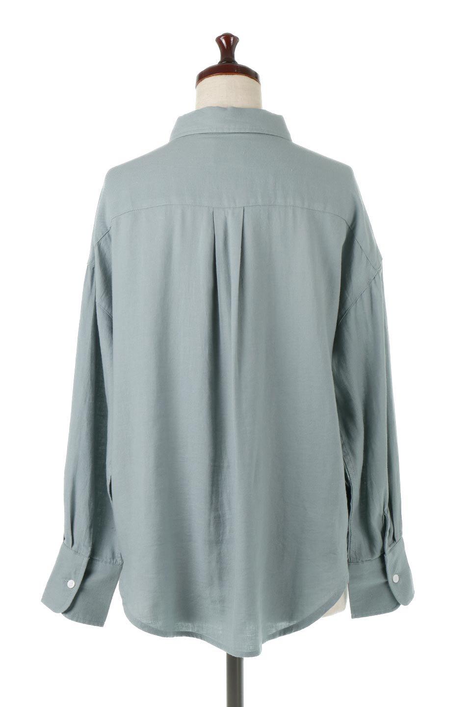 LooseFitLongSleeveLinenShirtsコットンリネン・ベーシックシャツ大人カジュアルに最適な海外ファッションのothers(その他インポートアイテム)のトップスやシャツ・ブラウス。コットン、リネン、レーヨンを使用し、ナチュラル素材にしなやかさをプラスするレーヨンを混ぜたルーズフィットスタイルのシャツ。くたっと柔らかでベーシックなスタイルの着回しやすいアイテムです。/main-14