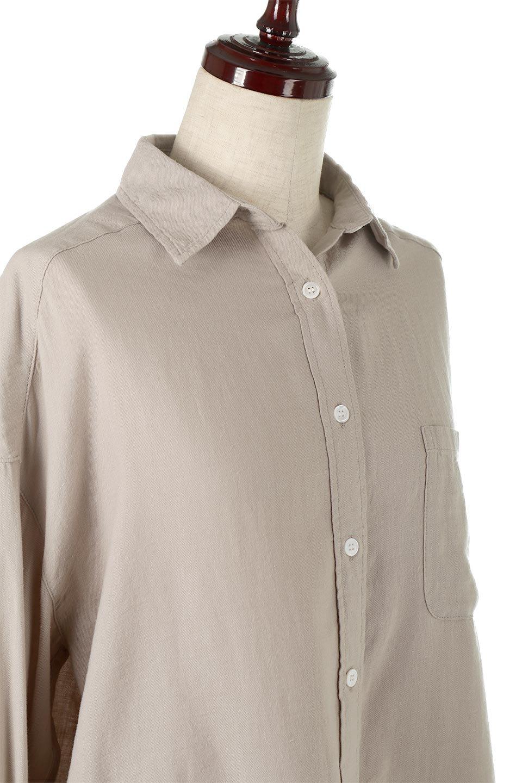 LooseFitLongSleeveLinenShirtsコットンリネン・ベーシックシャツ大人カジュアルに最適な海外ファッションのothers(その他インポートアイテム)のトップスやシャツ・ブラウス。コットン、リネン、レーヨンを使用し、ナチュラル素材にしなやかさをプラスするレーヨンを混ぜたルーズフィットスタイルのシャツ。くたっと柔らかでベーシックなスタイルの着回しやすいアイテムです。/main-15