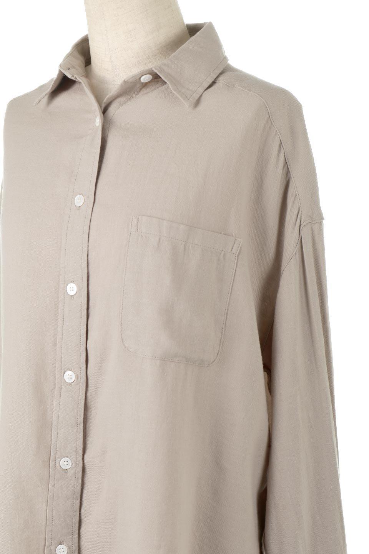 LooseFitLongSleeveLinenShirtsコットンリネン・ベーシックシャツ大人カジュアルに最適な海外ファッションのothers(その他インポートアイテム)のトップスやシャツ・ブラウス。コットン、リネン、レーヨンを使用し、ナチュラル素材にしなやかさをプラスするレーヨンを混ぜたルーズフィットスタイルのシャツ。くたっと柔らかでベーシックなスタイルの着回しやすいアイテムです。/main-16