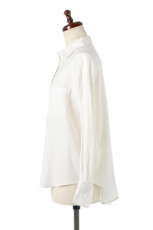 LooseFitLongSleeveLinenShirtsコットンリネン・ベーシックシャツ大人カジュアルに最適な海外ファッションのothers(その他インポートアイテム)のトップスやシャツ・ブラウス。コットン、リネン、レーヨンを使用し、ナチュラル素材にしなやかさをプラスするレーヨンを混ぜたルーズフィットスタイルのシャツ。くたっと柔らかでベーシックなスタイルの着回しやすいアイテムです。/main-2